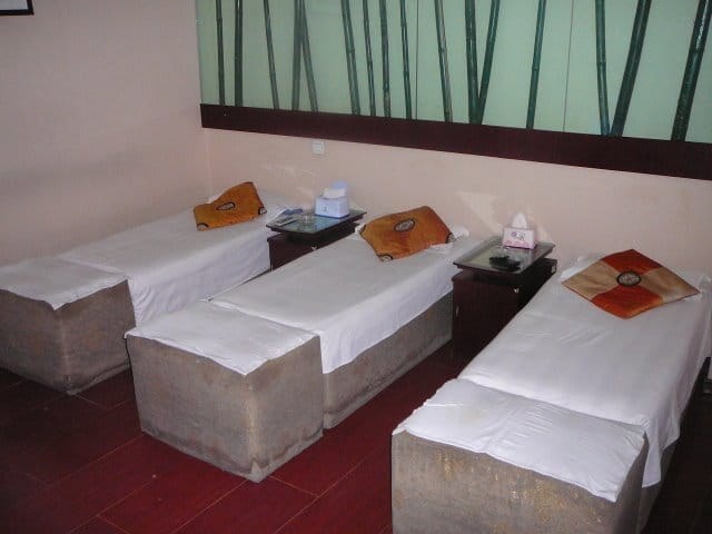 A Chinese massage room for various therapies
