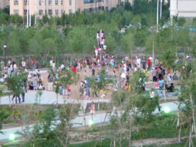 A large park in the Chinese province of Xinjiang