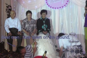 Weird Chinese custom at a wedding in Xinjiang