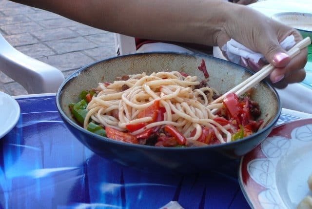 "A Uyghur dish called ""laghman"" or ""ban mian"""