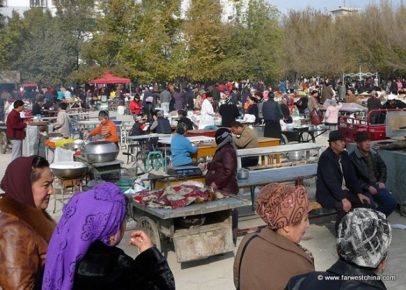 A Friday Market in China's western province of Xinjiang