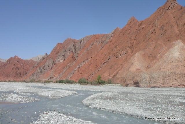A small river along the Karakoram Highway