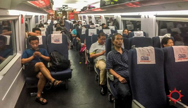 High-speed trains in China, second class seats