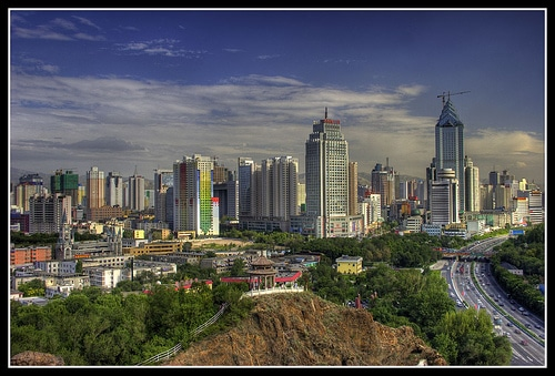 The Urumqi skyline as seen from Hong shan park
