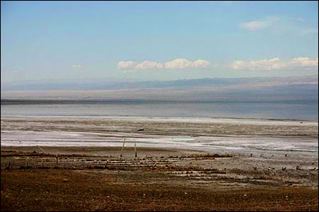 Xinjiang Lake is Shrinking