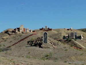 A hill of tombs in Xinjiang