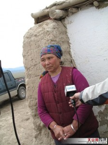 A woman from Wusu interviewed