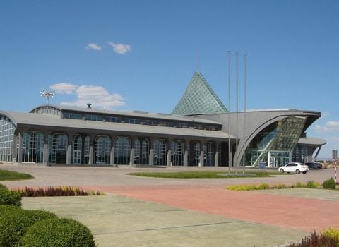 The Karamay airport in Xinjiang China