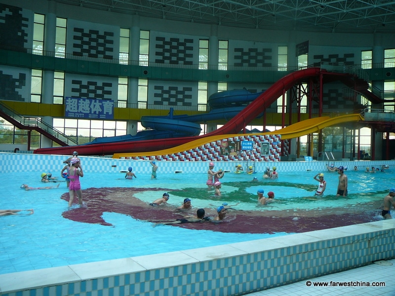 An indoor swimming pool in Karamay, Xinjiang China