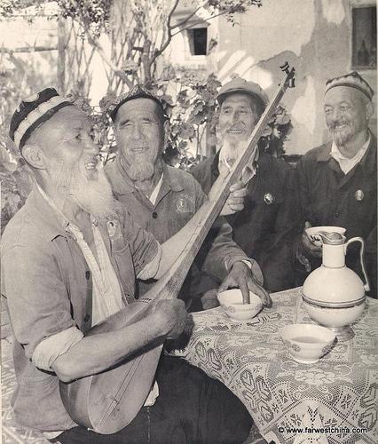 Old Uyghur men celebrating