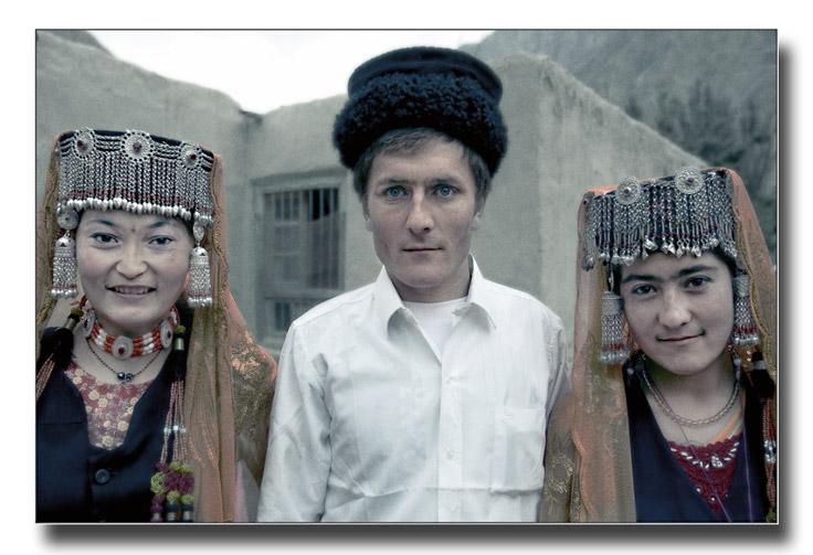 Three Tajik people of Xinjiang