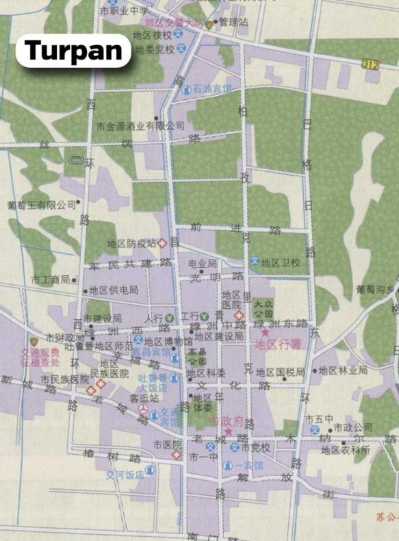 Turpan-Map