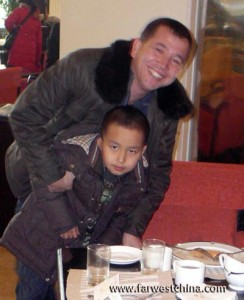 A Uyghur doctor and his son