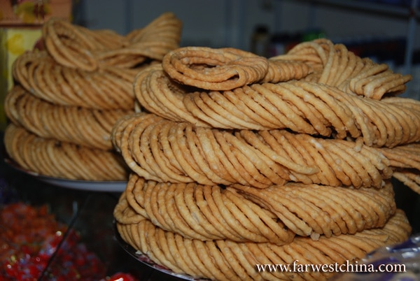 A Uyghur snack called Sanzi