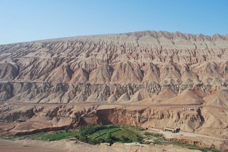 Flaming Mountains of Turpan in Xinjiang, China