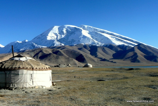 A Kyrgyz yurt near Xinjiang's Heavenly Lake