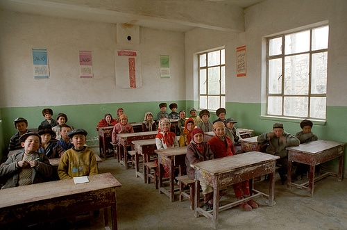 Teaching English in China: 5 Things I Wish I Knew Before Coming - Face Matters! An Uyghur school full of children