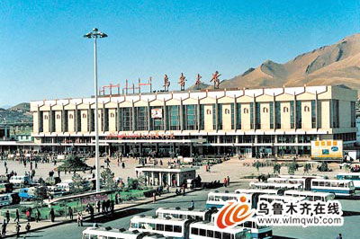 Expansion of the Urumqi station in 1983