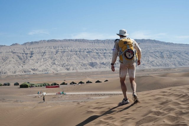A Gobi March competitor coming into camp