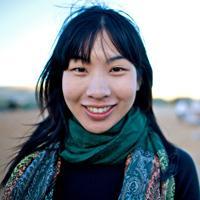 Melanie Ho, part of the Gobi March media team