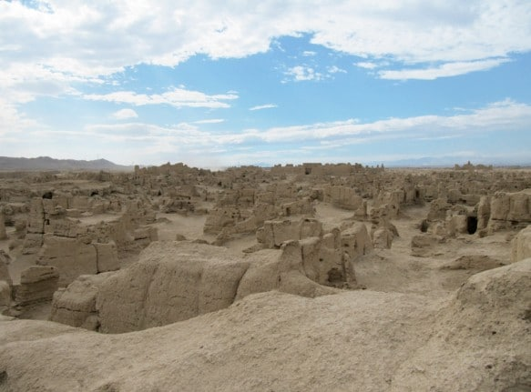 "A view of Turpan's Ancient City ruins known as ""Gaochang"""