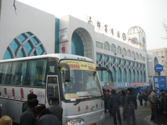 A view of the Urumqi South Bus station