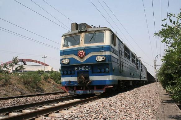 Taking a train in Xinjiang, China