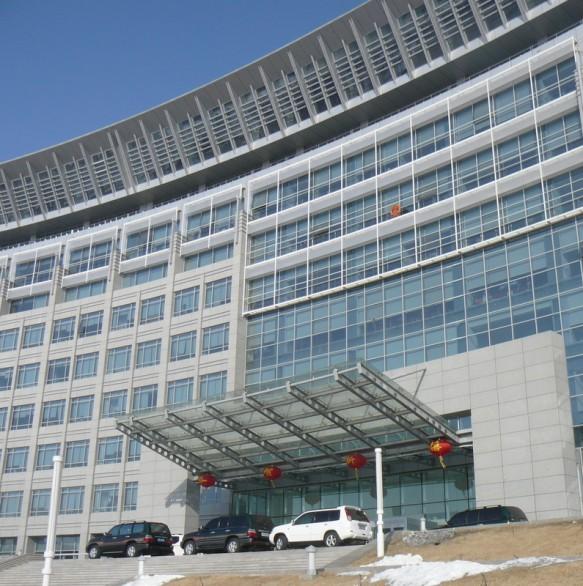 The beautiful Karamay government building in Xinjiang, China