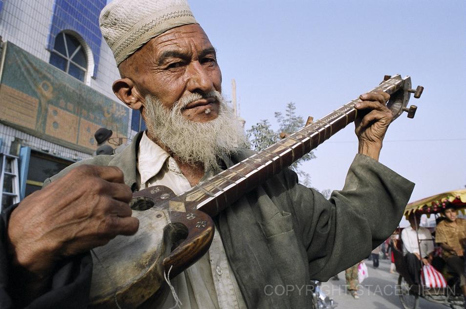 Uyghur Man Plays the Rawap: Pic of the Week