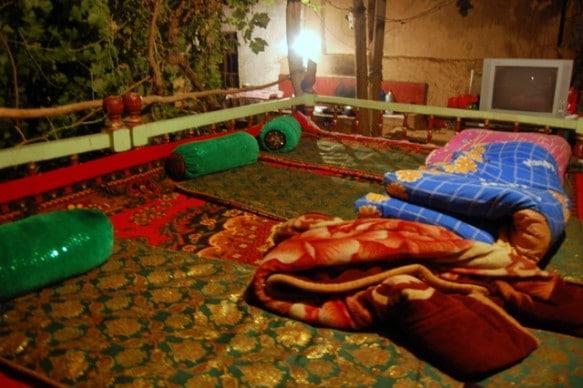 A Uyghur bed in Tuyoq Xinjiang