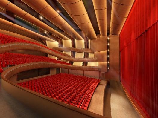 Inside the new Kanas Lake Theater in Xinjiang, China