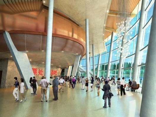 Kanas Lake Theater Foyer in Xinjiang, China