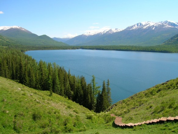 The World's Largest National Park is at Kanas Lake in Xinjiang, China