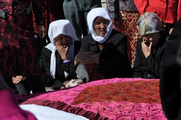 Uyghur women at a market in Kashgar, Xinjiang in China