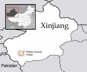 Clash in Pishan County of Hotan, Xinjiang in December of 2011