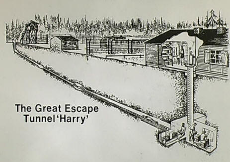 The tunnel where prisoners escaped a German war camp