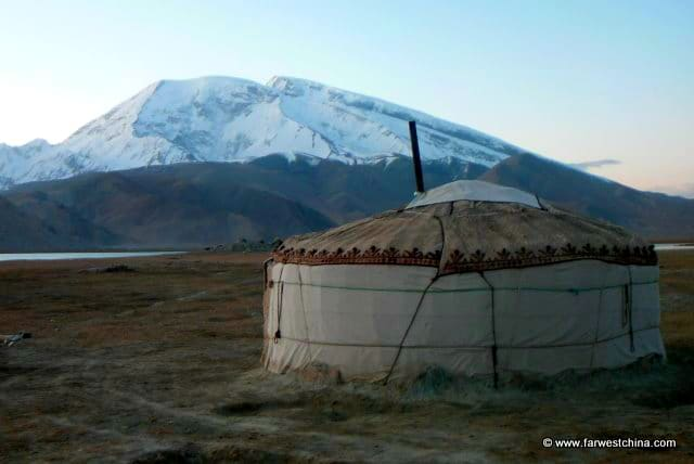 A Xinjiang yurt near Karakul Lake in China