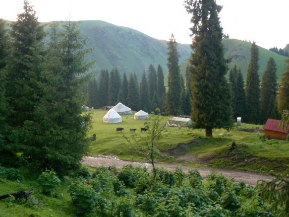 Xinjiang yurts near the Tekes