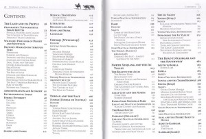Table of Contents for Odyssey's Xinjiang Travel Guide