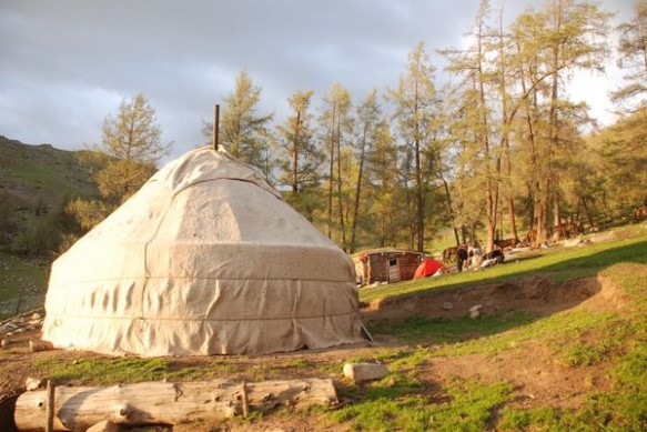 A Kazakh yurt in the Keketuohai National Park