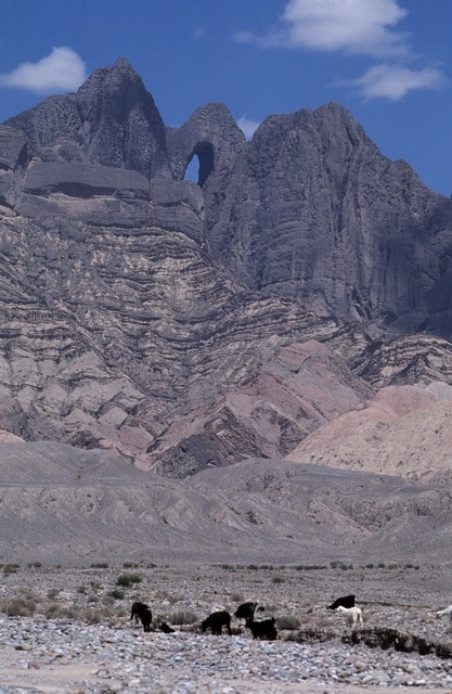 Another view of Shipton's Arch from Kashgar to the south