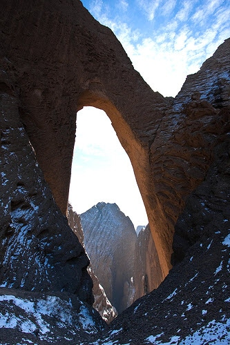 Cold weather in Xinjiang at Shipton's Arch