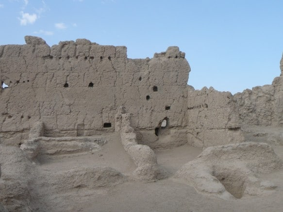 Crumbling Walls of Turpan's Ancient City of Jiaohe (Xinjiang)