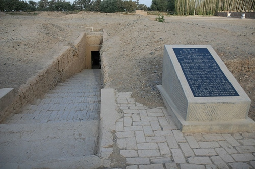 Entrance to the Astana Tombs near Turpan, Xinjiang