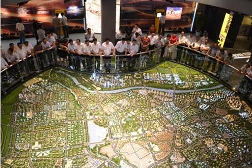 A view from above of Kashgar's Urban Planning model