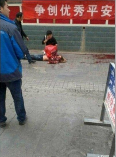 Another dead body in the streets of Korla, Xinjiang