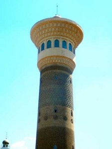 The viewing tower at Urumqi's Grand Bazaar