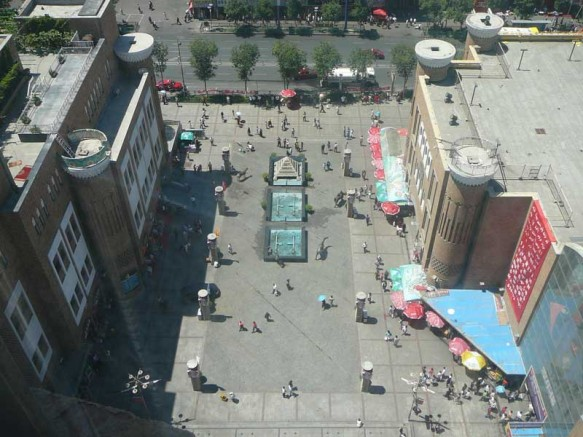 Bird's Eye view of the Urumqi International Bazaar