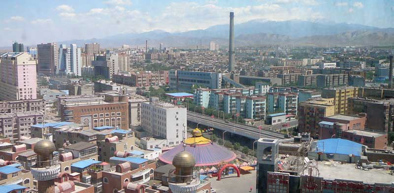 View of Urumqi from atop the Urumqi Viewing Tower