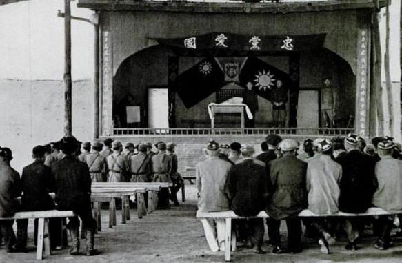 Government meeting in Korla, LIFE December 1943